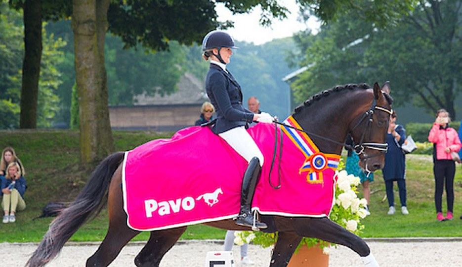 Marieke van der Putten and Keano win the 4-year old division at the 2019 Pavo Cup Finals :: Photo © Digishots