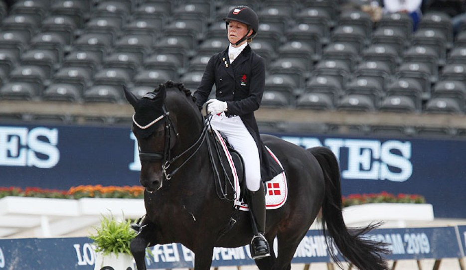 Agnete Kirk Thinggaard and Jojo AZ at the 2019 European Dressage Championships :: Photo © Astrid Appels