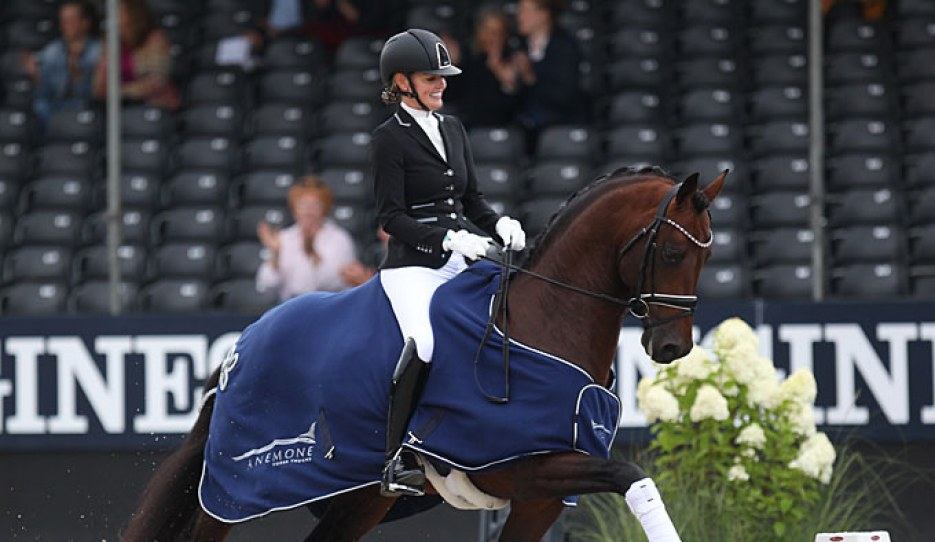 Renate van Uytert-van Vliet and Johnny Depp at the 2019 World Young Horse Championships :: Photo © Astrid Appels