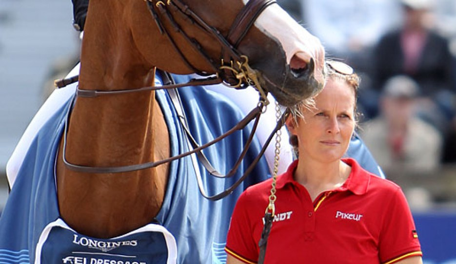 Steffi Wiegard and Bella Rose at the 2019 European Dressage Championships :: Photo © Astrid Appels