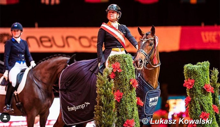 Isabell Werth and Quantaz win the Grand Prix for Special at the 2021 CDI-W Salzburg :: Photo © Lukasz Kowalski