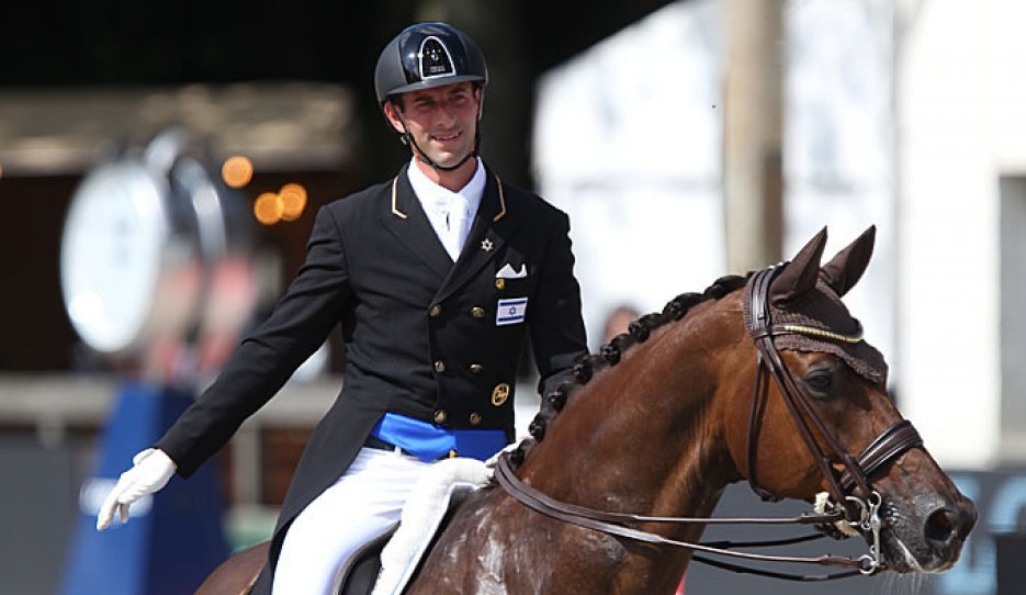 Eyal Zlatin and Bonzanjo at the 2019 European Dressage Championships :: Photo © Astrid Appels
