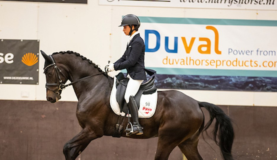 Hungarian Under 25 rider Benedek Pachl on Louis 14 Sollenburg in 2020 :: Photo © Digishots