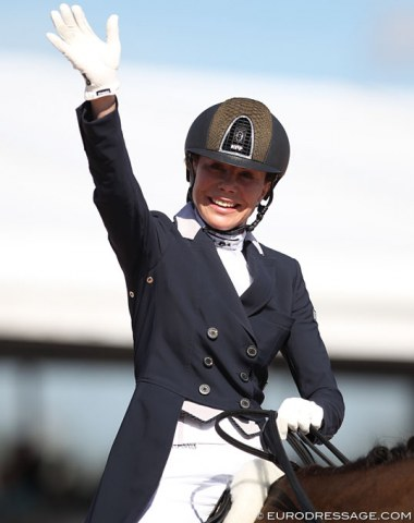 Joanne Vaughan, British born but riding for Georgia