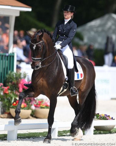 First time competing for France: Morgan Barbançon Mestre on Sir Donnerhall II