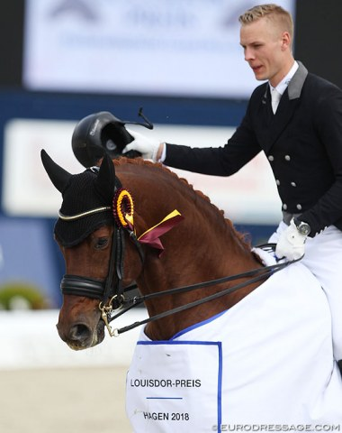 Daniel Bachmann Andersen and Blue Hors Veneziano won the Louisdor Cup qualifier