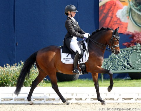 Tanja Fischer on the Weser Ems pony stallion Celebration WE (by Constantin x Royal Diamond), bred by Gudula Vorwerk
