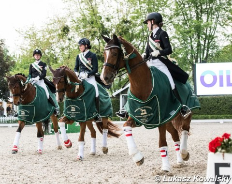 The Austrian team wins the Junior Riders nations cup