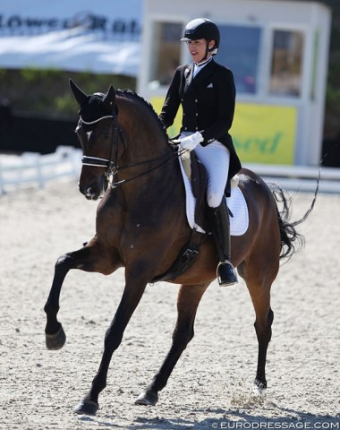 Australian Simone Pearce on Nurnberger Burgpokal winner Santiago