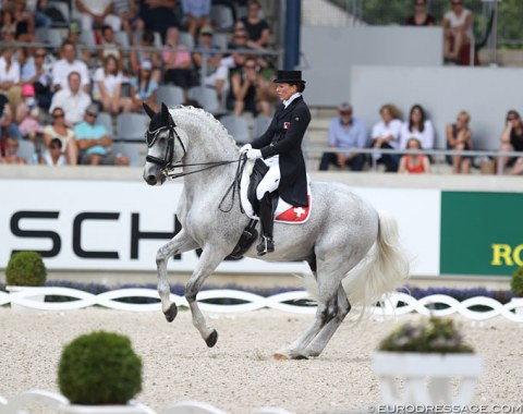 Swiss Anna-Mengia Aerne-Caliezi's Raffaelo va Bene passed the re-inspection and competed in the 5* tour