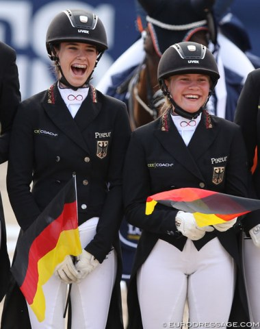 German team new comers Romy Allard and Marlene Sieverding are thrilled with silver