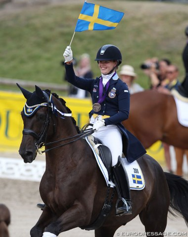 Lina Dolk and Languedoc helped to bring home bronze for Sweden
