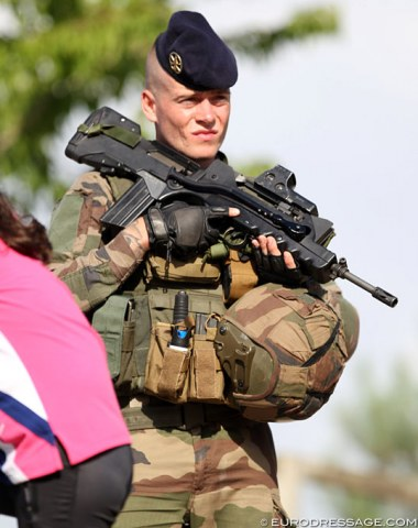 Better safe than sorry: military patrol at Fontainebleau