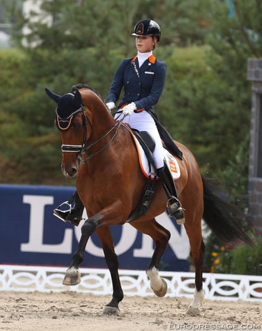 Daphne van Peperstraten on her junior rider's super star Cupido