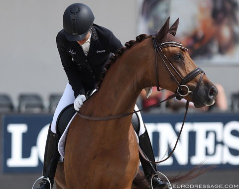 Emotional day for Jessica Michel-Botton as she rides Dorian Grey de Hus to a fifth place
