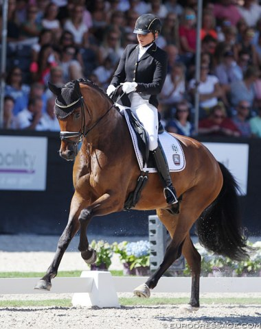 Dorothee Schneider and Flying Dancer OLD (by Furst Romancier x Sir Donnerhall)