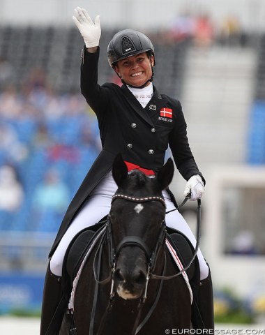 Denmark's second team reserve, Rikke Svane on Finckenstein, was called up for duty and rode their first WEG