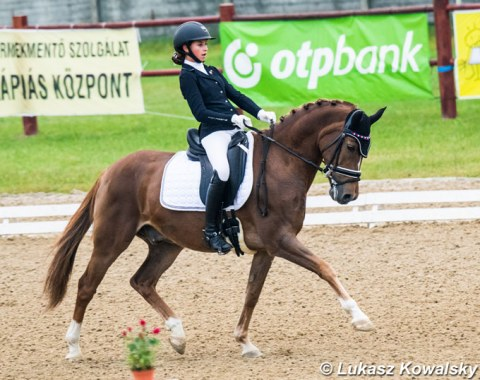 Czech pony rider Anna Prochazkova and Nice Guy were second in the team test and won the individual and Kur