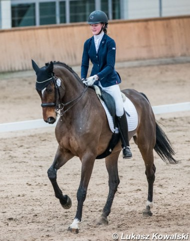 Pony rider Barbora Jakilaite also competes in the junior division on Quo Vadis G