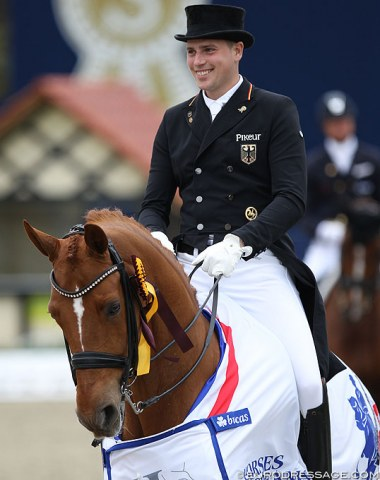 Frederic Wandres and Duke of Britain win the Grand Prix for Kur