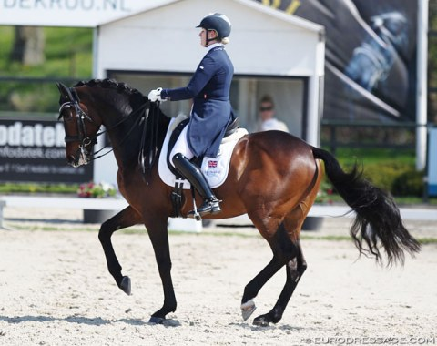 British Sara Gallop on the 13-year old Dutch warmblood Bandreo (by Sandreo)