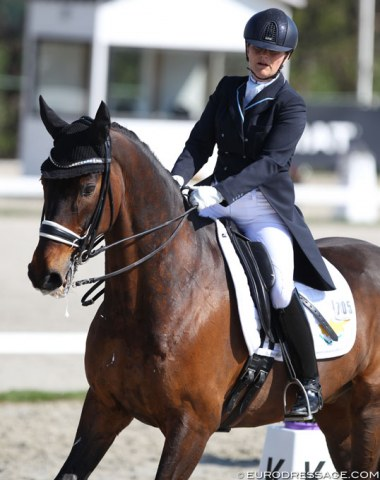Cyprus' Gabriele Kiefer on the 16-year old KWPN gelding Watson (by Obelisk x Transvaal)