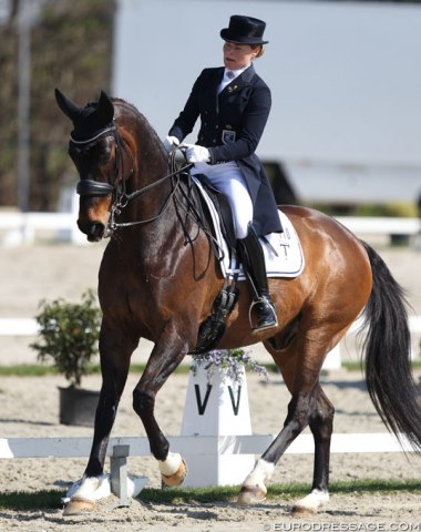 Mikaela Fabricius-Bjerre (née Lindh) on the 13-year old KWPN bred Bellissimo L (by Samba Hit II x Jazz)
