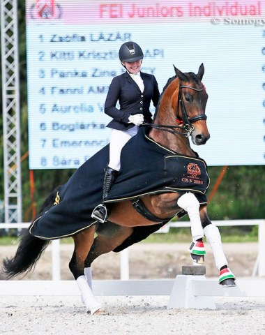 Hungarian junior rider Zsofia Lazar on Balerina Royal