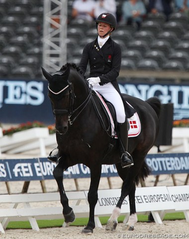 Agnete Kirk Thinggaard on the Hungarian bred Jojo AZ (by Ginus x Justboy)