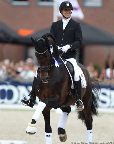 Silver medal winners Andreas Helgstrand and Revolution