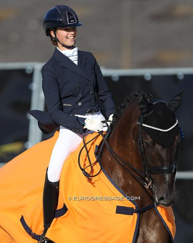 Maria Bauer on Eye Catcher with the winner's smile