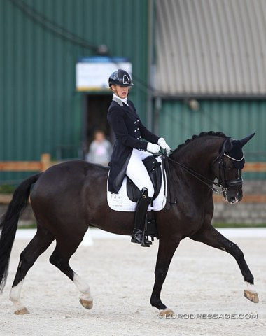 Kim van der Muren on the Thai owned Swedish warmblood A'Ha (by His Highness x Prestige VDL)