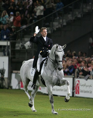 Blue Hors Matine, Andreas Helgstrand's career making horse. she had the most spectacular rise and fall in recent dressage history. Won bronze and silver at the 2006 World Equestrian Games and half a year later did her last show in her career.