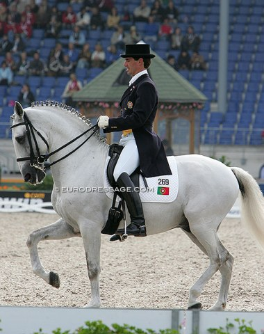 Portuguese Nuno Vicente on Nostradamus do Top. Rode at the 2005 European Champs and 2006 WEG. Vicente's last international start was in 2009 on Xangai