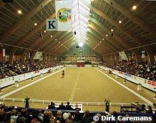 The indoor arena in Vilhelmsborg during the 2001 World Cup Finals