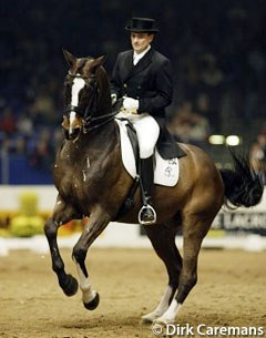 Danish Lars Petersen finished second in the 2002 World cup Finals with Blue Hors Cavan