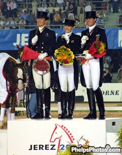 The WEG podium from a different angle