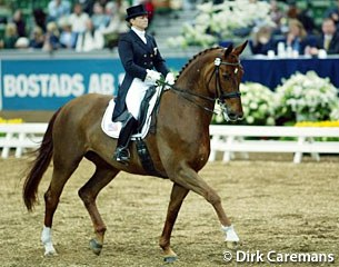 American Debbie McDonald and Brentina at the 2003 World Cup Finals in Gothenburg, Sweden :: Photo © Dirk Caremans