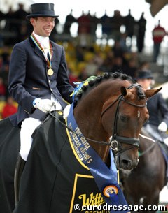 Hans Peter Minderhoud and Florencio Win 2004 World Championships for Young Dressage Horses :: Photo © Astrid Appels