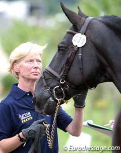 Louise Nathhorst and Guinness at the 2005 European Championships in Hagen