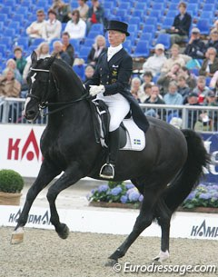 Nathhorst and Guinness at the 2005 European Championships in Hagen. Sweden won team bronze