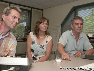 Victor Kerkhof, Debra Channon and Cees Slings in the Shepherd Studio in Leersum, The Netherlands