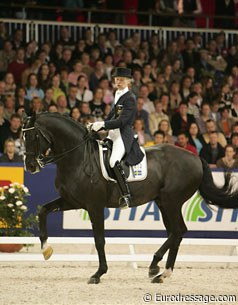 Louise Nathhorst and Guinness at the 2006 World Cup Finals
