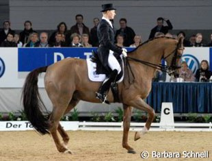 Matthias Alexander Rath won second place in the Special and more than made up for his mistakes in Frankfurt. At the press conference, the first thing he did was thank his horse for his highly sucessful first Grand Prix season.