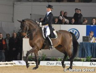 Petra Wilm is the only woman in the Trakehner licensing commission. Aboard the Polish-bred Rosenstrauss she became Schleswig Holstein's dressage champion last September.