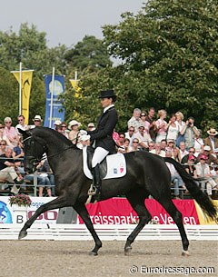 Jessica Michel and Noble Dream earn bronze at the 2007 World Young Horse Championships