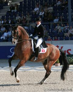 Swiss Elisabeth Eversfield-Koch aboard The Lion King, a horse previously shown by Rudolf Zeilinger