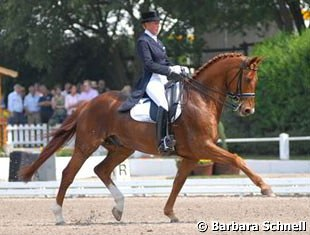 Heike Kemmer and Bonaparte won silver