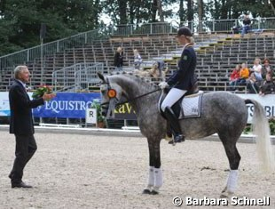 Annabel Frenzen was honored by Christoph  Hess because her silver-medal-winning ride aboard Nip Tuck was her last competition on a pony, ever.