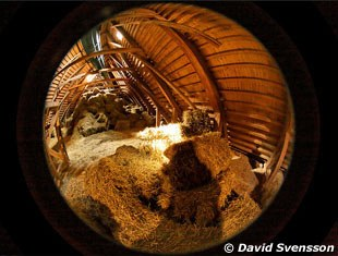 David Svensson captured the Flyinge hay loft with a very special lens on his camera